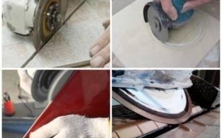 Как болгаркой резать плитку