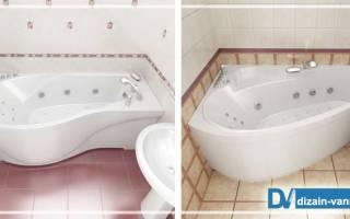 Особенности угловых акриловых асимметричных ванн