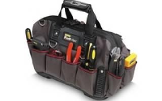 Как выбрать сумку для инструмента?