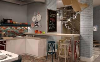 Кухня в стиле кафе и бара