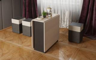 Стол-книжка с ящиками в интерьере