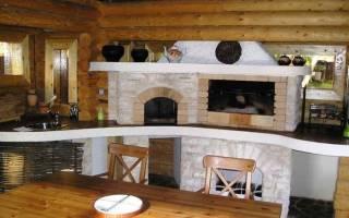 Дизайн кухни с печкой