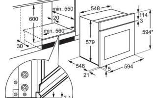 Размеры встроенных электрических духовых шкафов