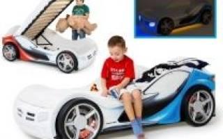 Кровать для девочки в виде машины