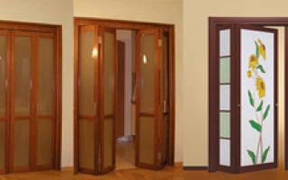 Разновидности дверей-гармошка фото