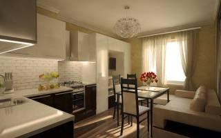 Кухня-гостиная площадью 15 кв. м