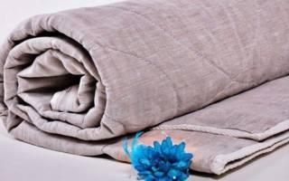 Льняное одеяло фото