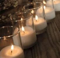Насыпные свечи фото