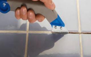 Как удалить старую затирку из швов плитки?