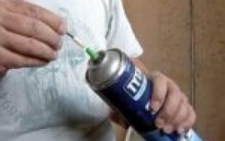 Как пользоваться монтажной пеной?