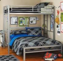 Металлическая кровать-чердак фото