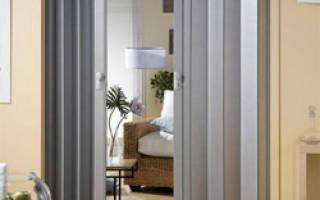 Установка двери-гармошки фото