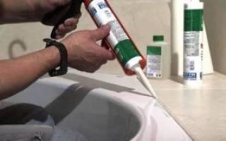 Как убрать старый герметик в ванной?