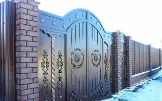 Закладные в кирпичных столбах для ворот