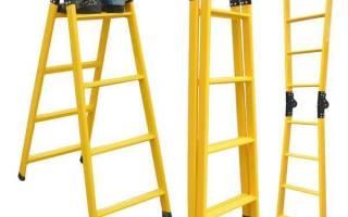Телескопические лестницы фото