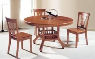 Раздвижной круглый стол на кухню