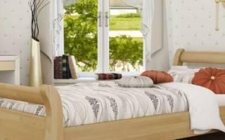 Деревянные односпальные кровати
