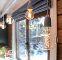 Лампа Эдисона фото