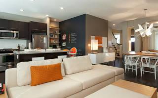 Современные стили кухни-гостиной