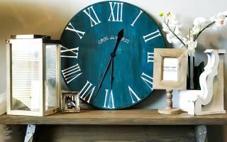 Использование белых настенных часов в интерьере