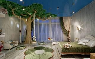Какой лучше делать потолок в детской комнате?