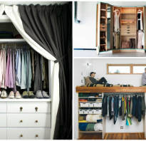 Встроенные гардеробные фото