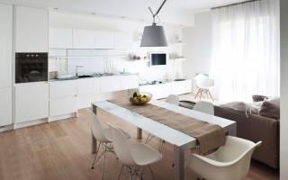 Кухня-гостиная площадью 25 кв. м