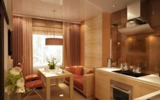 Дизайн кухни 10 кв. м с диваном
