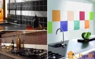 Особенности кухонных фартуков из плитки