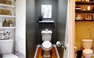 Полки в туалете