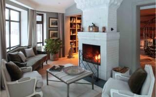 Белый камин в дизайне интерьера