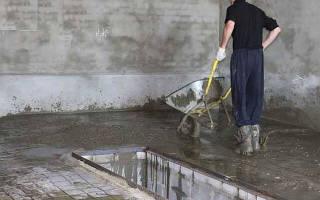 Как залить бетонный пол в гараже?