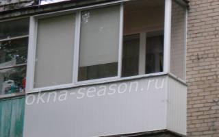 Остекление балкона в «хрущевке»