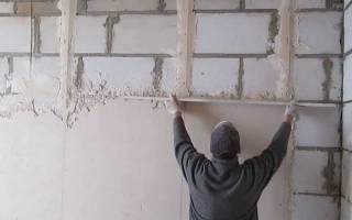 Как штукатурить стены цементным раствором?