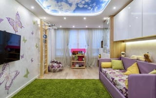 Особенности и виды натяжных потолков в детскую комнату для девочки