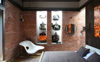 Идеи интерьера спальни с кирпичной стеной