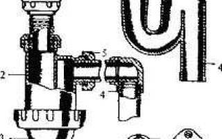 Возможные поломки сифона и его замена
