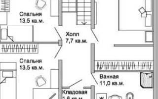 Проект дома размером 8х10 м