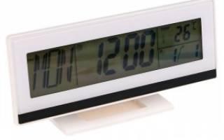 Электронные настольные часы-будильник
