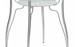 Круглые стеклянные столы