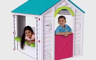 Детские домики для дачи из пластика