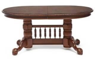 Кухонный овальный раздвижной стол