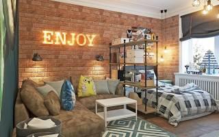 Декоративный кирпич в интерьере квартиры