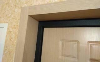 Оформление проема для входной двери