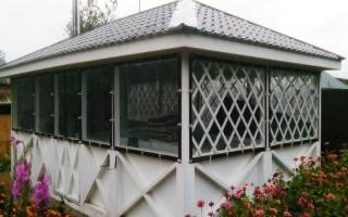 Мягкие окна из ПВХ для беседок и террас