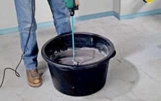 Что такое цементное молочко и как его приготовить?