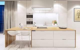 Белая кухня в дизайне интерьера