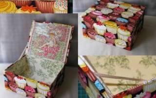 Как сделать шкатулку из картона своими руками?