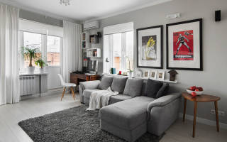 Варианты использования серого дивана в интерьере