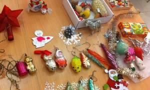 Елочные игрушки времен СССР